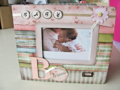 Embellished Cover BABY GIRL Scrapbook Photo Picture Album - 26 X 22 x 3cm