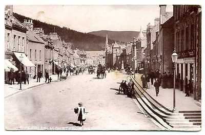 Scotland Peebles High Street from West Photo PC 1912