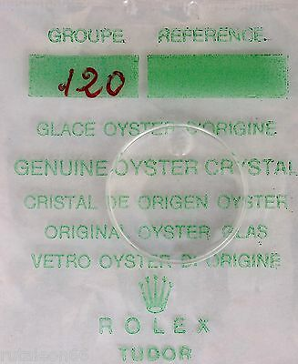 ROLEX 100% genuine OYSTER crystal Cyclop plastic. Part #120 NEW factory sealed