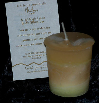 MOTHER REIKI candles Crystal Journey CANDLES Herbal MAGIC votives APPRECIATION
