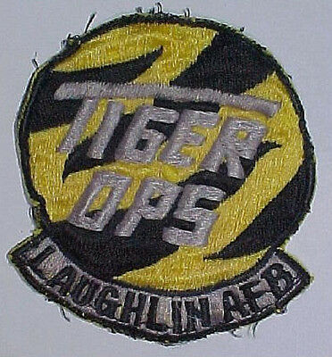 """1970s 1980s TIGER OPS - LAUGHLIN AFB"""" Squadron Patch - Asian Made"""