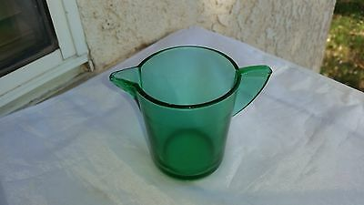 "Akro Agate Stippled Band Green Small Size Teapot  ""No Lid"""