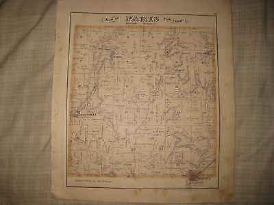 ANTIQUE PARIS WASHINGTON TOWNSHIP MINERVA ROBERTSVILLE STARK COUNTY OHIO MAP NR