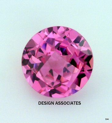 Man Made Pink Sapphire 6.5 Mm Round Cut Aaa