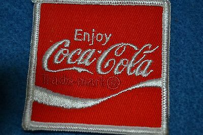 Vintage 70's Embroidered Employee Cloth Patch COCA-COLA Wave Logo Uniform NOS