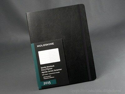 """Moleskine 2015 Soft X-Large Weekly Planner Notebook 12 Month 7½"""" x 10"""""""