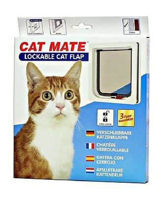 Ani Mate White Cat Door Lockable Flap For On The Go