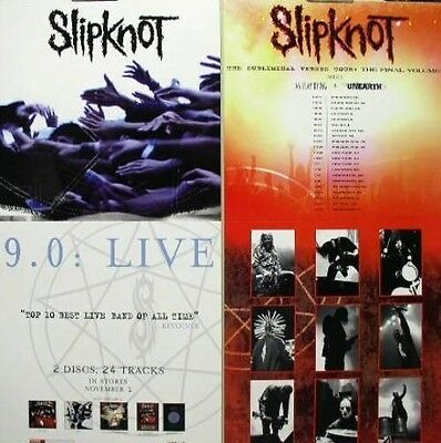 SLIPKNOT 2005 9.0 LIVE 2 sided promotional poster ~MINT condition~!!