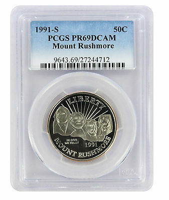 1991-S Mount Rushmore MT Commemorative Half PR69DCAM PCGS Proof 69 Deep Cameo