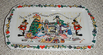 "CARDEW ""ALICE'S CHRISTMAS PARTY!""  RECTANGULAR COOKIE TRAY"