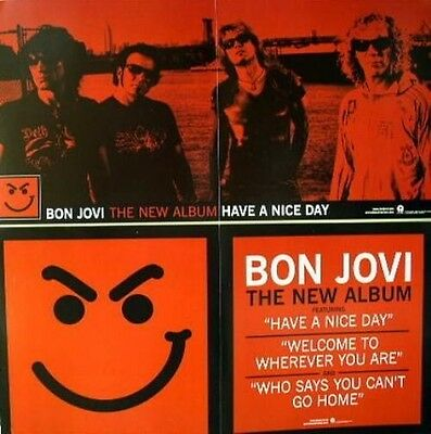 BON JOVI 2005 long 2 sided have a nice day promo poster ~NEW~MINT~!