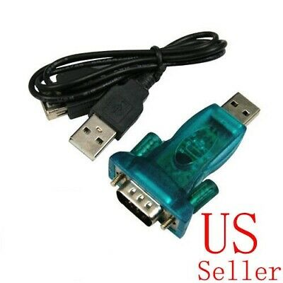 USB to RS232 serial Blue DB9 Adapter + USB Cable for XP Vista Win7 Female Screw