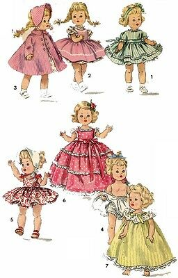 Vintage Doll Clothes PATTERN 1372 for 8 in Ginny Muffie Alexander Kins by Vogue