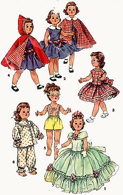 Vintage Doll Clothes PATTERN 1405 for 16 in Toni Walker by Ideal a P 91 doll