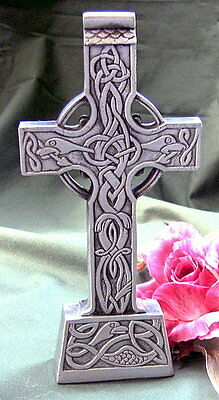 Mullingar Irish Pewter Standing Celtic Cross