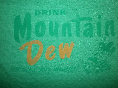 retro MOUNTAIN DEW T SHIRT Distressed Hillbilly Tickle Your Innards Moonshine LG