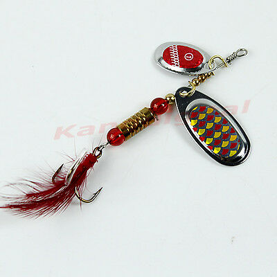 Sinking Lifelike New Fishing Lure Paillette Tackle Treble Hook Spinner Bait