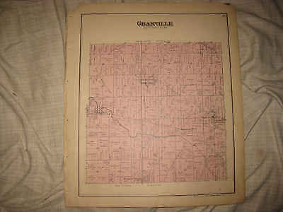 Antique 1888 Granville Township St Henry Mercer County Handcolored Map Ohio Nr