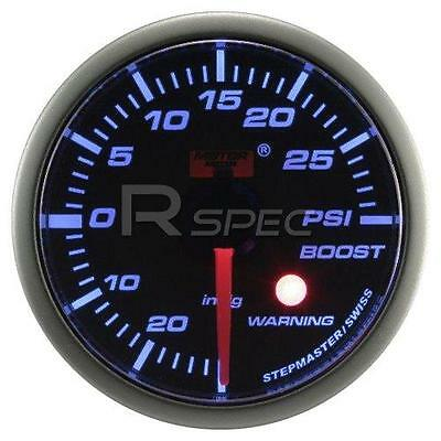 Car 52mm Smoked Blue 52mm Stepper Motor Boost Gauge PSI with warning