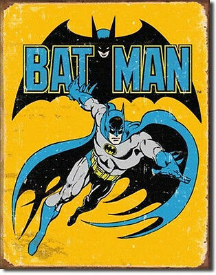 DC Comics Batman Retro Comic Art Tin Sign Poster Reproduction, NEW UNUSED