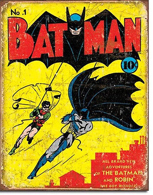 DC Comics Batman Issue #1 Cover Comic Art Tin Sign Reproduction, NEW UNUSED