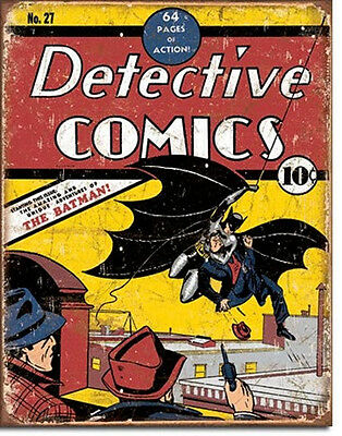 Detective Comics Issue #27 Cover Comic Art Tin Sign Reproduction, NEW UNUSED