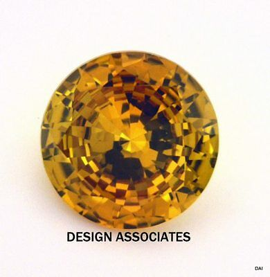 Man Made Golden Sapphire 7 Mm Round Cut Aaa