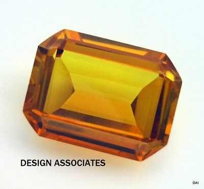 Man Made Golden Sapphire 12X10 Mm Emerald Cut Aaa