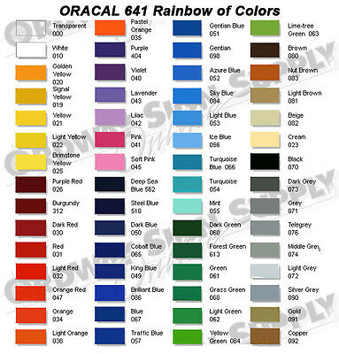 """You Pick the Color 15"""" x 50yd. ORACAL 641 Calendered  Vinyl Low as $.92 a Yard"""