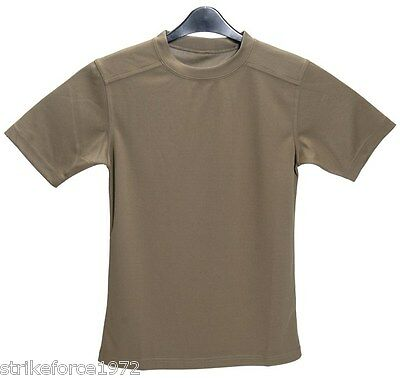 """Army Issue PCS Light Olive Coolmax T Shirt - Size 160/80  SMALL  (32"""" Chest)"""