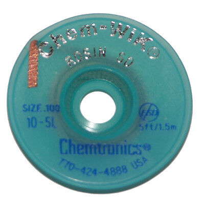 Chemtronics 10-5L 5' Solder Wic Wick Braid For Solder Removal from Circuits