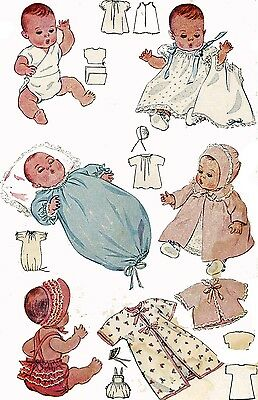 Vintage Doll Clothes Pattern 2659 for 18 in Dy Dee doll by Effanbee 1930s