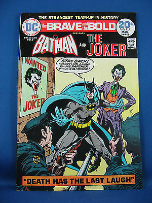 THE BRAVE AND THE BOLD 111 VF NM Batman Joker NICE 1974