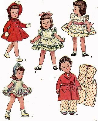 Vintage Doll Clothes Pattern 3728 for 14 in Toni Bonnie Braids Little Girl Doll