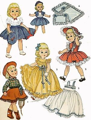 Vintage Doll Clothes Pattern 3729 for 21 inch Toni dolls Ideal