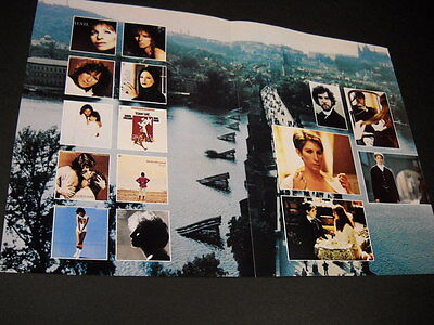 BARBRA STREISAND supersized Collage Style 1983 PROMO DISPLAY AD mint condition