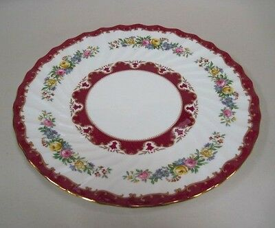 Crown Staffordshire Bone China Floral Charger England