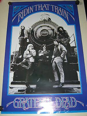 """GRATEFUL DEAD / Orig.vintage poster / Riding that Train / Exc.+new cond./ 22x34"""""""