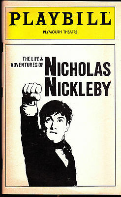 The Life & Adventures of Nicholas Nickleby Playbill Royal Shakespeare Company