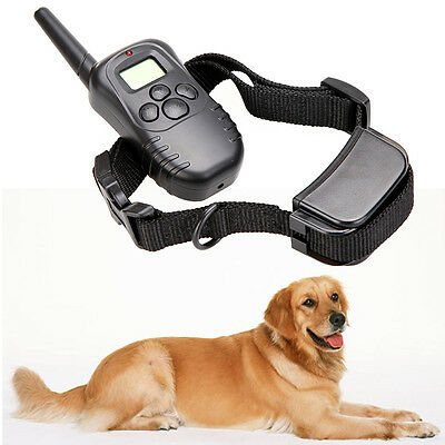Rechargeable Waterproof 300M 100LV LCD Remote Dog Pet Training Collar for 1 Dog