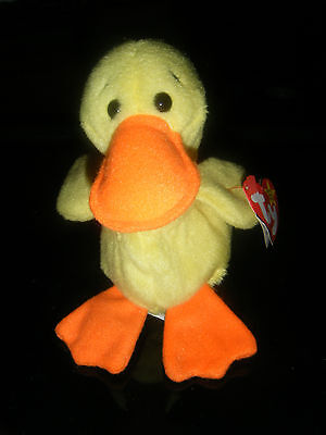 Vintage Ty Beanie Babies Quackers the Duck