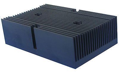 New Heat sink with 4 holes aluminum material and the surface - black anodized