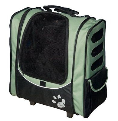 Pet Gear I-GO2 Escort Rolling Backpack Carrier - Black for Cats and Dogs SAGE