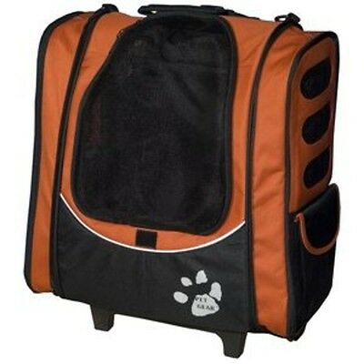 Pet Gear I-GO2 Escort Rolling Pet Backpack for cats and dogs - Copper - New