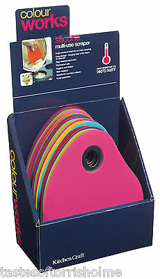 Colourworks by Kitchen Craft  Flexible Silicone All Purpose Bowl Pastry Scraper