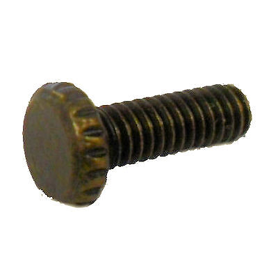 "lamp parts: Lot of 6... 3/4"" knurled antique brass screw     TV-467"