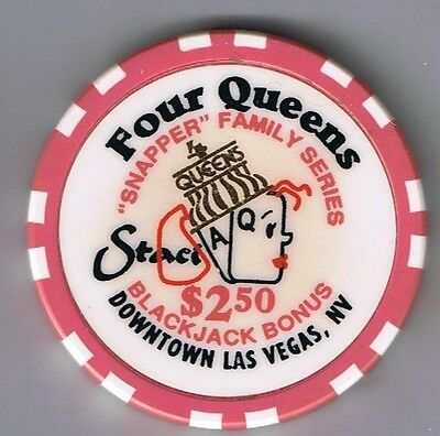Four Queens Hotel $2.50 Snapper Staci Casino Chip Las Vegas Nevada