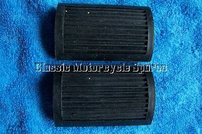 NORTON - EARLY VINTAGE PAIR OF BICYCLE PEDAL 'D' TYPE FOOTREST RUBBER NO LOGO