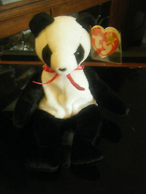 Vintage Ty Beanie Babies Fortune the Panda Bear