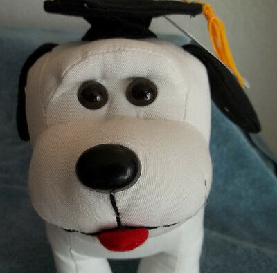 Graduation Autograph Dog  New With Pen And Deploma Tag.  Washable  And Cute.